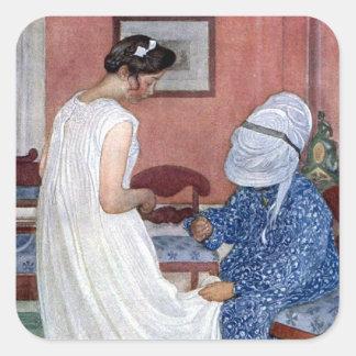 The Bridesmaid 1910 Square Sticker