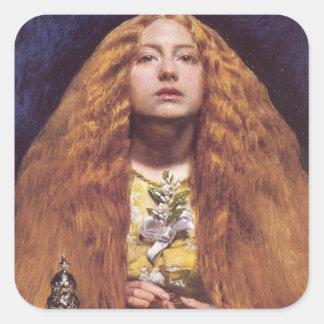 The Bridesmaid redhead Square Sticker