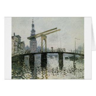 The Bridge, Amsterdam by Claude Monet Card