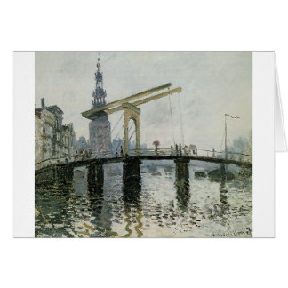 The Bridge, Amsterdam by Claude Monet Greeting Card