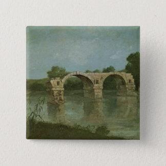 The Bridge at Ambrussum 15 Cm Square Badge