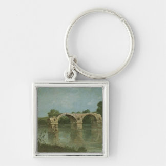 The Bridge at Ambrussum Silver-Colored Square Key Ring