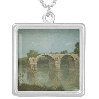 The Bridge at Ambrussum Square Pendant Necklace
