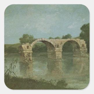 The Bridge at Ambrussum Square Sticker