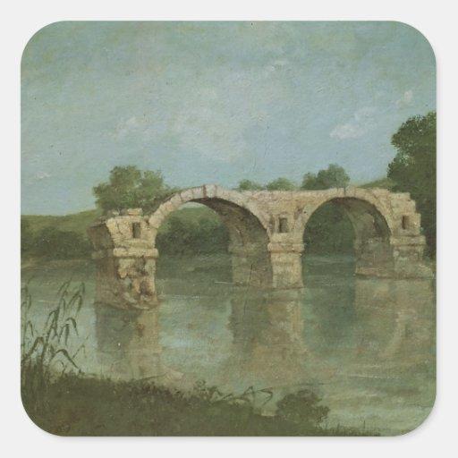 The Bridge at Ambrussum Square Stickers