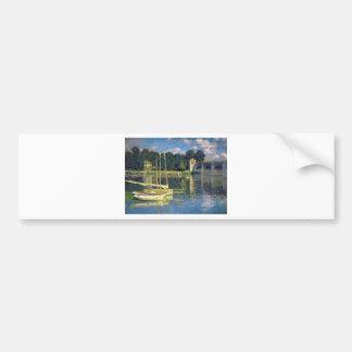 The Bridge at Argenteuil by Claude Monet Bumper Sticker