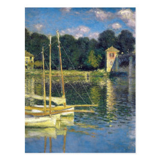 The Bridge at Argenteuil by Claude Monet Postcard