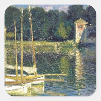 The Bridge at Argenteuil by Claude Monet Square Sticker