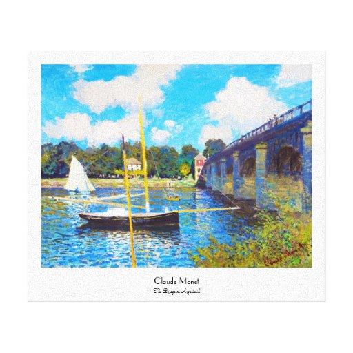 The Bridge at Argenteuil Claude Monet Canvas Prints