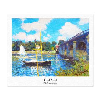 The Bridge at Argenteuil Claude Monet Stretched Canvas Print