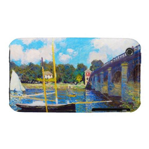 The Bridge at Argenteuil Claude Monet iPhone 3 Cases