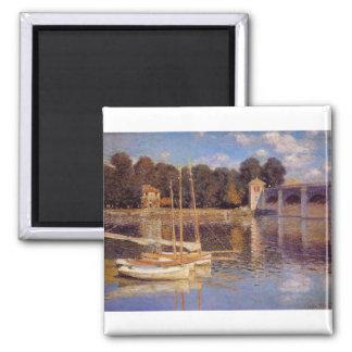 The Bridge at Argenteuil Claude Monet Magnet