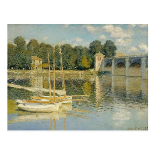 The Bridge at Argenteuil - Claude Monet Post Cards