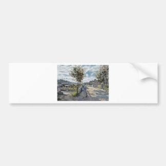The Bridge at Bougival by Claude Monet Bumper Sticker