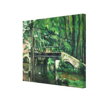 The Bridge at Maincy or The Bridge at Mennecy Canvas Print
