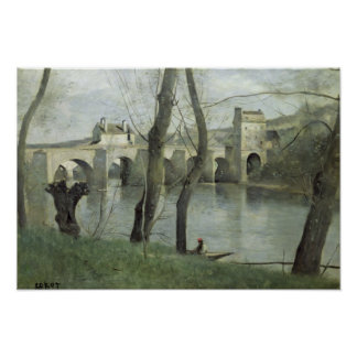 The Bridge at Mantes Poster