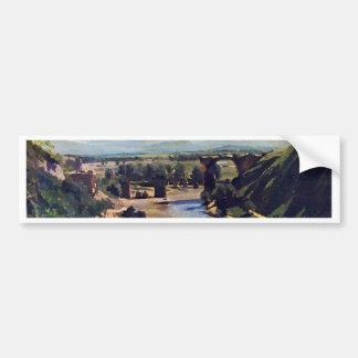 The Bridge At Narni By Corot Jean-Baptiste-Camille Bumper Sticker