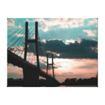 The bridge at sunset gallery wrapped canvas