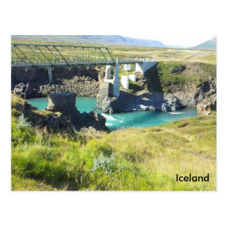 The bridge crossing Skjálfandafljót river, Iceland Postcard