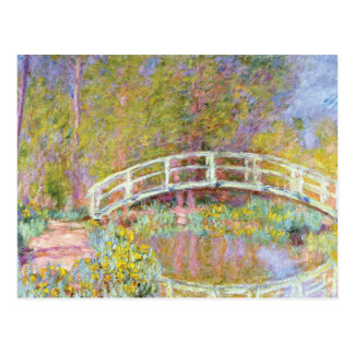 The Bridge in Monet's Garden by Claude Monet Postcard