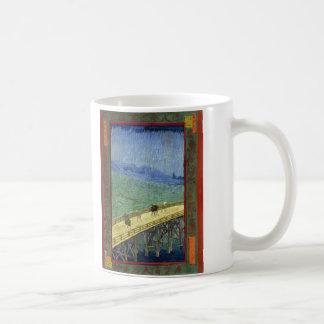 The Bridge in the Rain (after Hiroshige) Van Gogh Coffee Mugs
