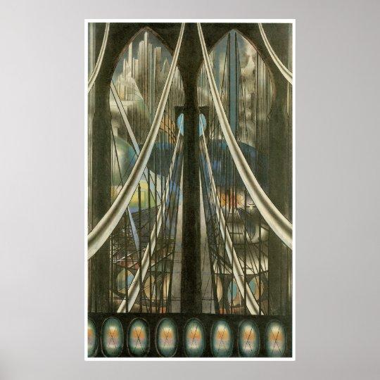 The Bridge, Joseph Stella Poster