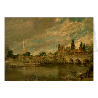 The Bridge of Harnham and Salisbury Cathedral Card