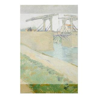 The Bridge of Langlois by Vincent Van Gogh Flyer Design