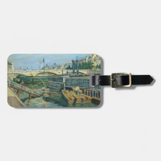 The Bridge of Louis Philippe, 1875 (oil on canvas) Luggage Tag