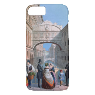 The Bridge of Sighs, Venice, engraved by Brizeghel iPhone 8/7 Case