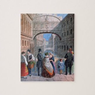 The Bridge of Sighs, Venice, engraved by Brizeghel Puzzle