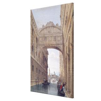 The Bridge of Sighs, Venice, engraved by Lefevre ( Canvas Print