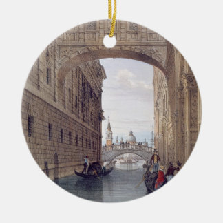 The Bridge of Sighs, Venice, engraved by Lefevre ( Round Ceramic Decoration