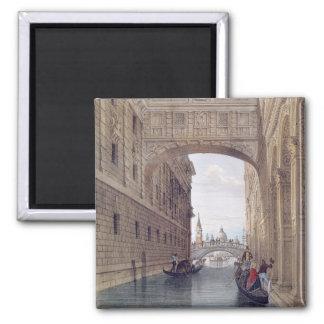 The Bridge of Sighs, Venice, engraved by Lefevre ( Square Magnet
