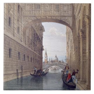 The Bridge of Sighs, Venice, engraved by Lefevre ( Tile