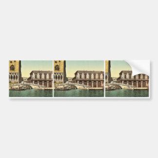 The Bridge of Sighs, Venice, Italy vintage Photoch Bumper Sticker