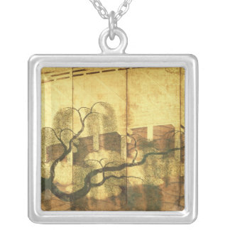 The Bridge on Liji River Silver Plated Necklace