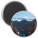 The Bridge over Hoover Dam 6 Cm Round Magnet