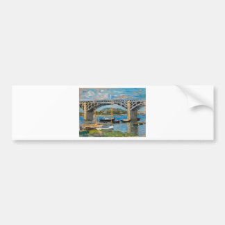 The Bridge over the Seine by Claude Monet Bumper Sticker
