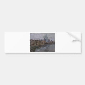 The Bridge under Repair by Claude Monet Bumper Sticker