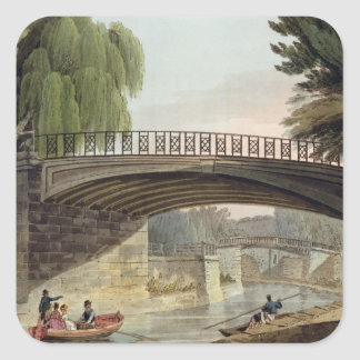 The Bridges over the Canal in Sydney Gardens, from Square Sticker