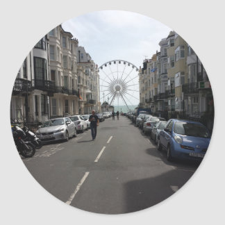 The Brighton Wheel in Brighton, UK Classic Round Sticker