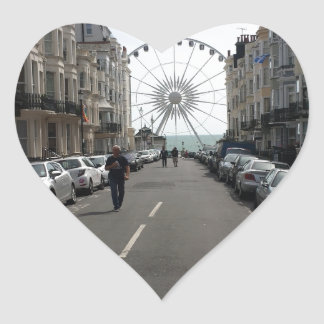 The Brighton Wheel in Brighton, UK Heart Sticker