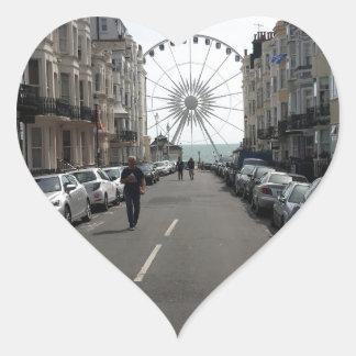 The Brighton Wheel in Brighton, UK Heart Sticker