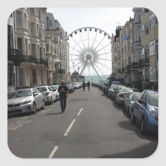 The Brighton Wheel in Brighton, UK Square Sticker
