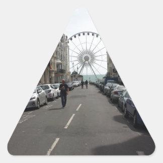 The Brighton Wheel in Brighton, UK Triangle Sticker