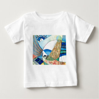 The Brilliant Bluejay Wildlife Painting Baby T-Shirt