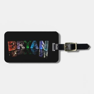 The Brilliant Name Bryan in 3D Lights Tags For Bags