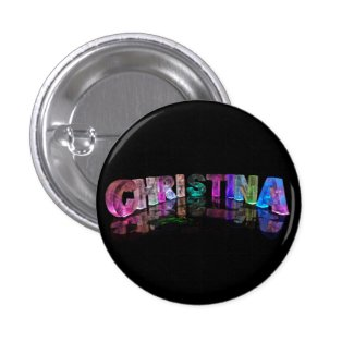 The Brilliant Name Christina in 3D Lights Button
