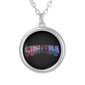 The Brilliant Name Christina in 3D Lights Pendants